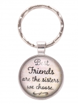 Round Key Chain Keyring Letter Metal Friendship Pendant Best Friends Gifts