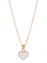 Love Heart Butterfly Pendant Necklace Gold Color Fashion Jewelry