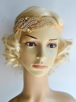 Mulheres Vintage Style Rhinestone Party Flapper Headband Bridal Headpiece