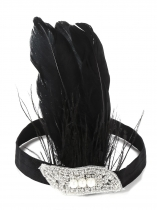 Vintage Style Rhinestone Party Feather Headband Flapper Headpiece