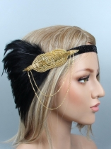 1920s Women Vintage Style Party Feather Headband Flapper Headpiece