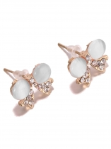1 Pair Women Lady Fashion Jewelry Cute Bow Shape Ear Stud Earrings
