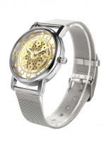 Fashion Women Watch Hollow Golden /Silver Quartz Metal Band Wrist
