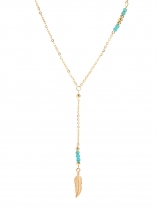 New Fashion Women Turquoise Bohemia Style Charm Chain Pendant Jewelry Necklace