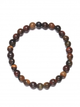 New Women Fashion Tiger Eye Stone Colorful Beads Bangle Bracelet Wristband