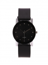 Unisex Fashion Round Rhinestone Buckle Quartz Watch