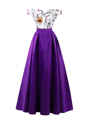 45eee651632c Purple Women Style Off Shoulder Dress