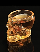 Transparent Halloween New Crystal Skeleton Vodka Shot Glass Drinking Ware for Home / Bar Use 73ml