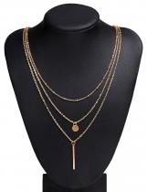 Multi-Layered Alloy Chain Link Necklace