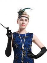 1920s Flapper Set Gatsby Costume Accessory Headband Necklace Gloves Long Cigarette Holder