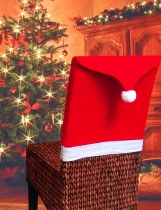 6pcs Christmas Chair Cover Santa Hat Xmas Party Dinner Sear Cover Decorations
