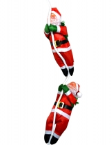 New 2Pcs Cute Christmas Santa Claus Doll Christmas Tree Decorations with Rope