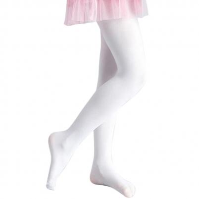 Bílá Dětské Punčocháče Footed bezešvé punčochy b98596ac15