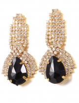 Fashion Rhinestone Ear Stud Earrings